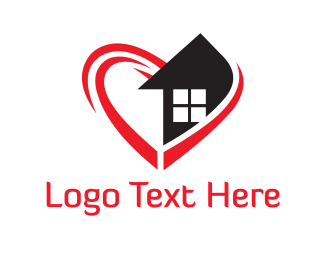 Furnitureinterior Heart & Home logo design