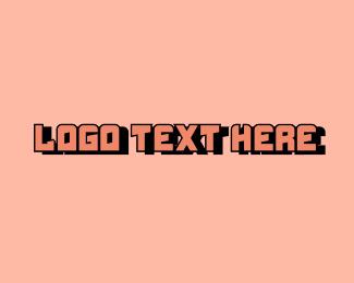 Cyber Cafe - Pink Techno Digital Wordmark logo design