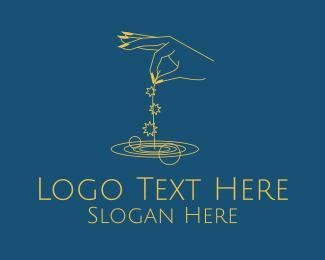 Dream - Fortune Teller Hand Stars  logo design