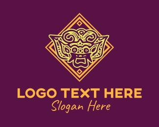 Indian Restaurant - Asian Art logo design