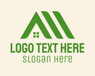 Dormitory - Green Home Roofs logo design
