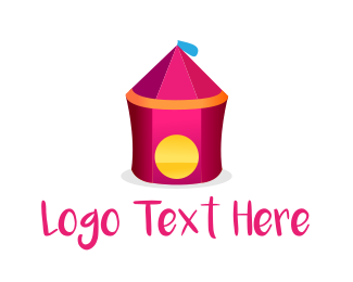 Event Planning - Pink Circus Tent logo design