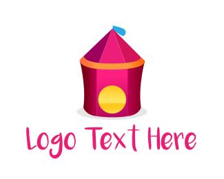 Teepee - Circus Tent logo design