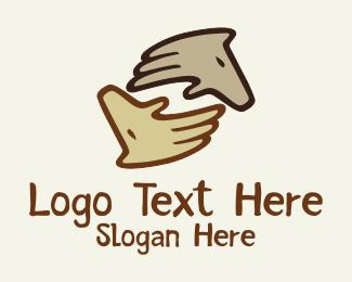 Finger - Two Horse logo design