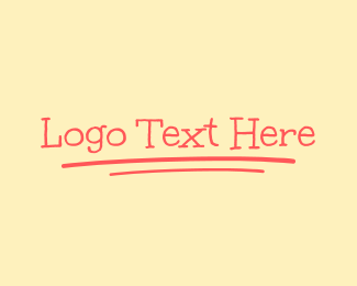 Teaching - Handwritten Wordmark logo design