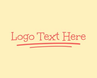 Handwritten - Handwritten Wordmark logo design