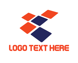 Tile - Tech Squares logo design