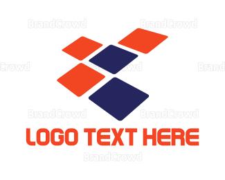 Flooring - Tech Squares logo design