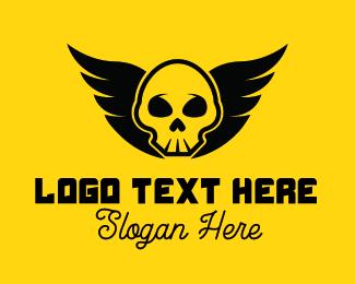 Tattoo - Winged Pirate logo design