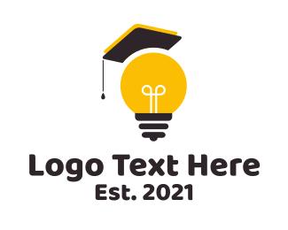Idea - Idea Bulb Graduation logo design