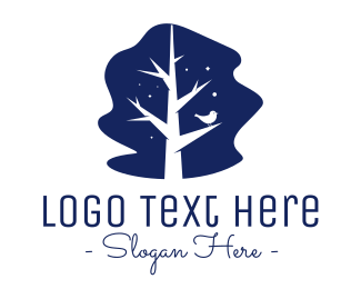 Midnight - Cute Tree Branches logo design