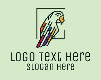 Jungle - Geometric Parrot logo design