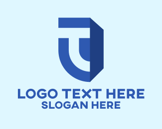 Business - Blue Letter T Business logo design