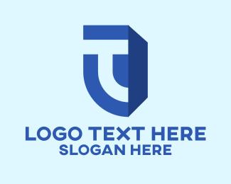 Blue Letter T Business Logo