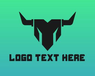 Minotaur - Geometric Minotaur logo design