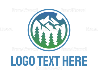 Mountain - Ice Mountain Valley logo design