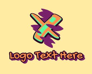 Arts - Graffiti Art Letter X logo design