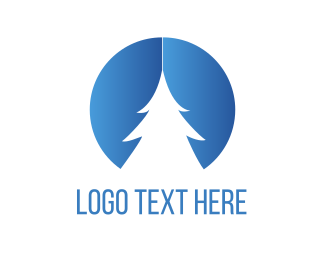 Snow - White Pine Tree logo design