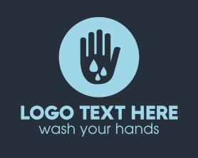 Water Clean Hand Logo