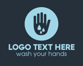 Covid19 - Water Clean Hand logo design