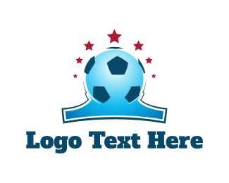 Soccer Tournament - Blue Soccer Ball logo design