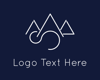 Alps - Elegant Mountains logo design