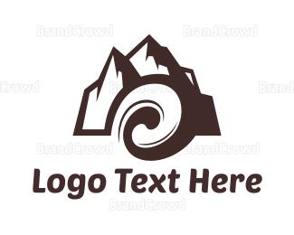Whirl - Mountain Wave  logo design