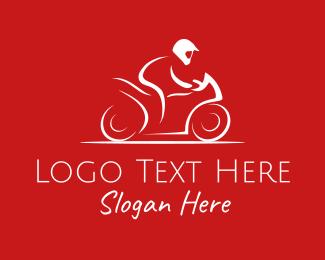 Ride - Black Motorcycle logo design