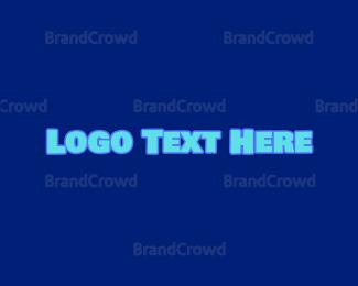 Wordmark - Blue Childish Wordmark logo design