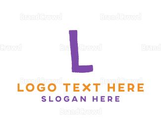 Letter K - Crayon Letter K logo design