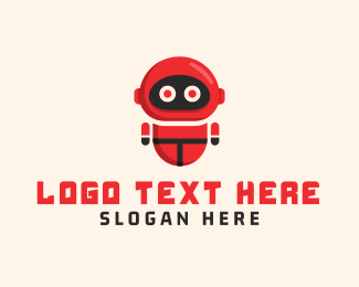 Cartoonish - Red Robot logo design