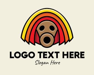Tribal - African Tribal Mask logo design