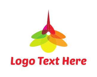 Print - Mosquito Flower logo design