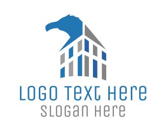 Vulture - Blue Eagle Builiding logo design