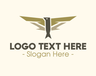 Airline - Pilot Bird Badge logo design