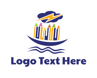 Beam - Pencil Boat logo design