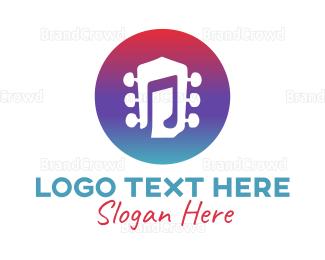 Musician - Guitar Music  logo design