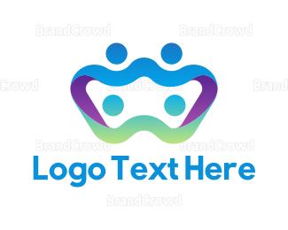 Social - Abstract Family  logo design
