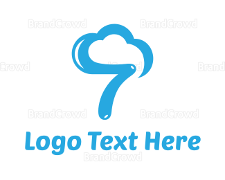 Cloud Drive - Cloud Number 7 logo design