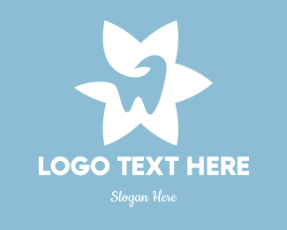 Teeth - Tooth Flower logo design