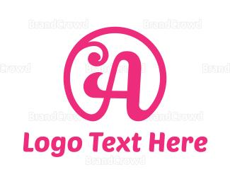 Salon - Feminine Pink A logo design