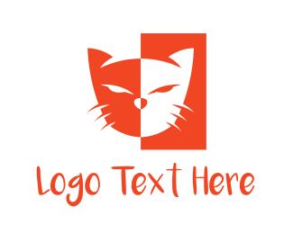 Red Tiger - Red Cat  logo design
