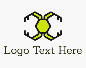 Ant - Circuit Spaceship logo design