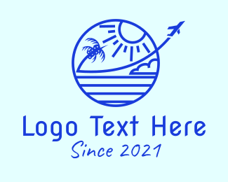 Travel - Blue Plane Travel Agency  logo design