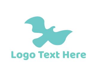 Aqua - Soft Flying Bird logo design