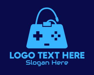 Game Buttons - Blue Game Bag logo design