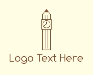 Pencil - Pencil Tower logo design