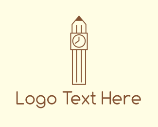 Student - Pencil Tower logo design