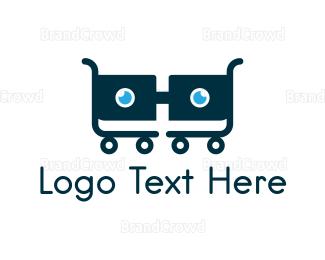 Cart - Nerd Cart logo design