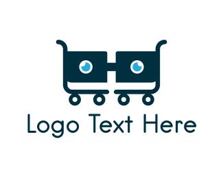 Mart - Nerd Cart logo design